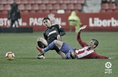 Boulahroud ante el Real Sporting. | Foto: LaLiga