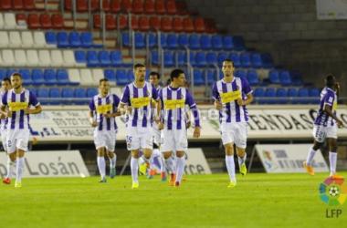 Numancia - Real Valladolid: puntuaciones del Real Valladolid, jornada 8