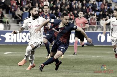 David Ferreiro, el mejor jugador elegido por los oscenses frente el Albacete