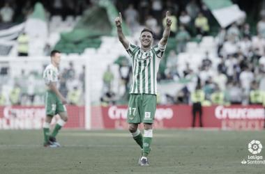 Joaquín celebrando su primer gol | Foto: LaLiga Santander