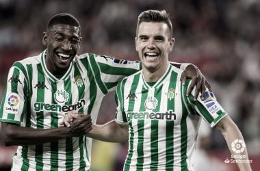 Celebración del gol de Lo Celso al Sevilla | Fotografía: LaLiga Santander
