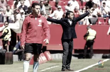 Calleja en el encuentro frente el Sevilla Foto: La Liga