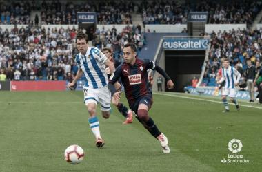 Fabián Orellana frente a la Real Sociedad. Temporada 2018/19 (Foto://La Liga)