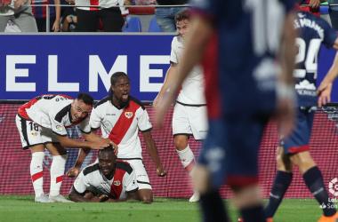 Celebración del gol de Imbula ante el Huesca en su casa | Fotogafía: LaLiga Santander