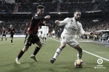 Disputa por un balón en el <b>Real Madrid - Rayo Vallecano </b>de la primera vuelta de la Liga Santander | Foto: LaLiga.es