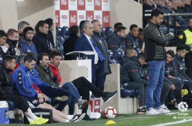 Míchel en el encuentro ante el Villarreal | Fotografía: LaLiga Santander