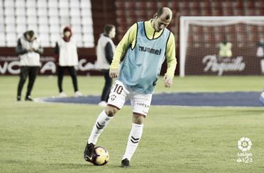 Zozulya calentando antes de un partido | Fotografía: LaLiga