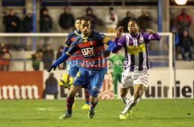 El Real Valladolid cayó en Palamós (Fotografía: LFP).