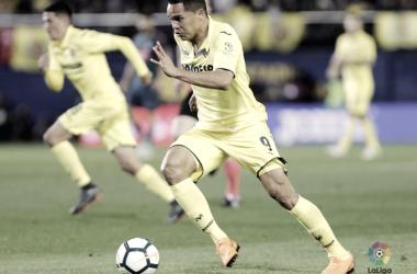 Carlos Bacca en el encuentro ante el Atlético de Madrid | Foto: LaLiga
