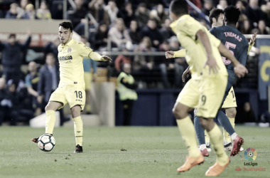 Nicola Sansone ante el Atlético de Madrid / Foto: La Liga