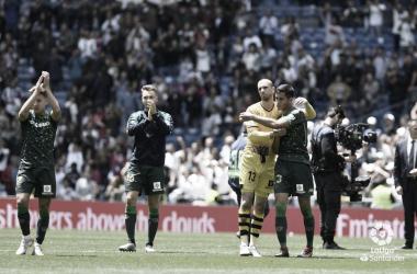 Los jugadores después del partido ante el Real Madrid | Foto: LaLiga Santander