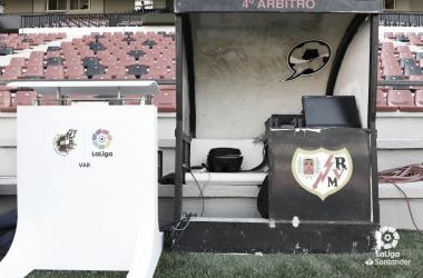 El VAR en Vallecas | Fotografía: La Liga
