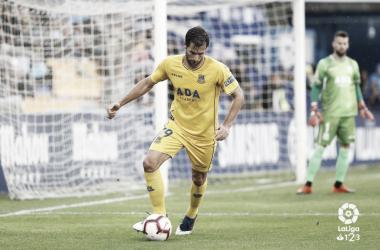 David Fernández durante un de los partidos de esta temporada. Foto: LaLiga1|2|3