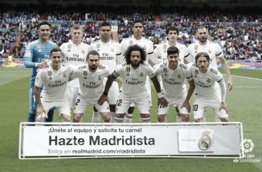 Once incial del Real Madrid ante el Atheltic de Bilbao. Fuente: La Liga
