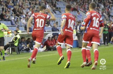 Celebración del gol de Antonio Puertas frente al Tenerife. Foto: La Liga