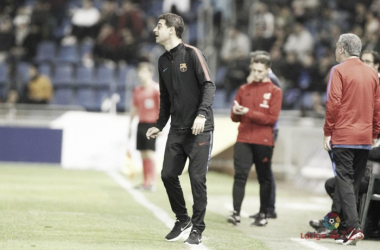 Gerard López dirigiendo a su equipo esta temporada | FOTO: LaLiga.es