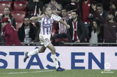 Nacho celebrando el gol del empate | Foto: LaLiga Santander
