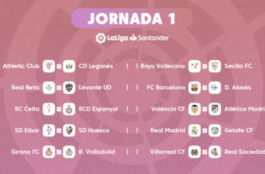 Jornada 1 de Laliga 2018/2019 / Foto: laliga.es