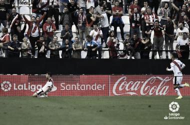 Pozo celebrando su gol | Fotografía: La Liga