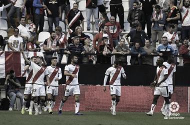 Celebración del gol de Pozo ante el Bilbao | Fotografía: LaLiga Santander