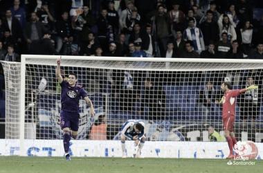 Maxi celebrando el 1-1 | Fuente: LaLiga