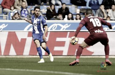 Sobrino fue titular frente al Eibar | Fotografía: La Liga