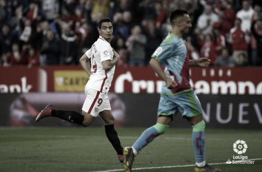 Ben Yedder celebrando su gol | Fotografía: La Liga