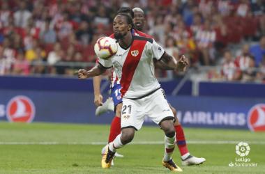 Abdoulaye Ba durante el partido ante el Atlético de Madrid. Fotografía: La Liga