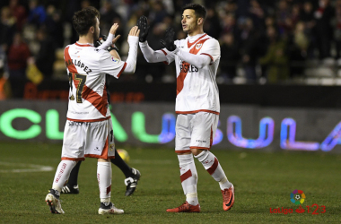 Javi Guerra celebrando un gol | Fotografía: La Liga