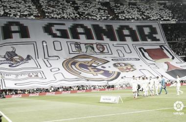 Pancarta de la afición blanca en el clásico de Copa del Rey I Foto: LaLiga
