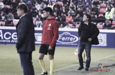 Rubi dirigiendo un partido de esta temporada | Foto: LaLiga.es