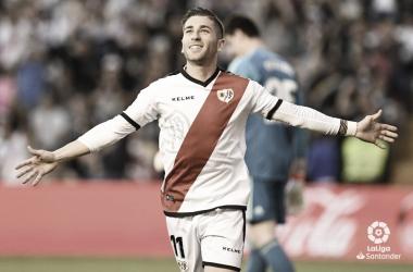 Embarba celebrando su gol ante el Real Madrid | Foto: LaLiga Santander