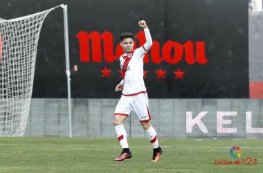 Álex Moreno celebrando un gol | Fotografía: La Liga