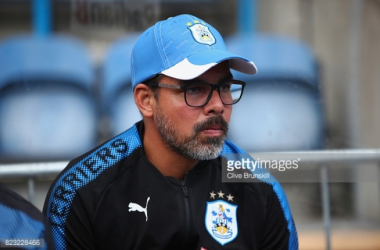 Huddersfield boss David Wagner watching on during their pre-season campaign