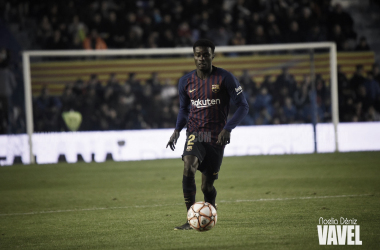 Wagué disputó su segundo partido oficial como azulgrana / Foto: Noelia Déniz (VAVEL.com)