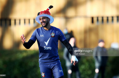 Theo Walcott in Christmas spirits. (Photo by Matt Watson/Southampton FC via Getty Images).