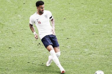 Walker en un partido con Inglaterra. Foto: FA.