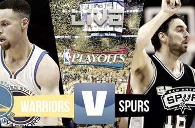 Warriors y Spurs buscan un lugar en las Finales de la NBA (Montaje: VAVEL)