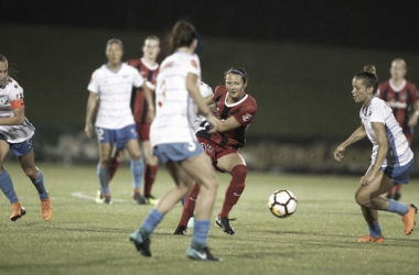 The Chicago Red Stars beat the Washington Spirit 2-0 in pouring rain at the Maryland SoccerPlex. | Photo: @WashSpirit via isiphotos.com