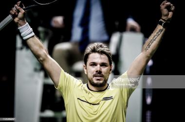 Wawrinka celebra su victoria. Foto: Getty Images.