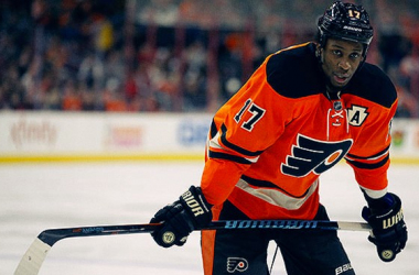 Wayne Simmonds (Photo courtesy of NBC sports)