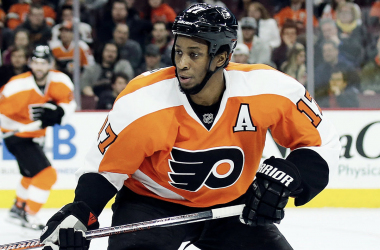 Wayne Simmonds helped the Philadelphia Flyers win their final preseason game. |  <span>Photo via Philly.com</span>