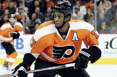 Wayne Simmonds helped the Philadelphia Flyers win their final preseason game. | <span>Photo via Philly.com</span>