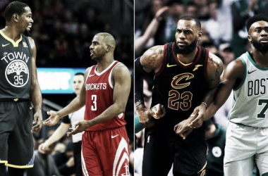 The Houston Rockets and Boston Celtics look to be the new teams in advancing to the NBA Finals. Photo: Associated Press via NBCBayArea.com