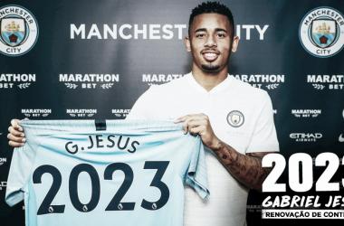 Atacante Gabriel Jesus renova com Manchester City até 2023