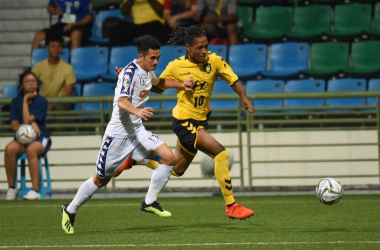 Jordan Webb leads a Tampines counter attack / Photo source: TRFC Facebook
