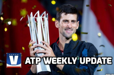 Novak Djokovic claimed a fourth title in Beijing and closed in on the number one ranking. Photo: AFP