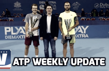 Mirza Basic (right) won a battle of first-time finalists over Marius Copil (right) to win the Sofia Open. Photo: Sofia Open