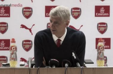Arsène Wenger en la rueda de prensa posterior al partido | Fotografía: Arsenal