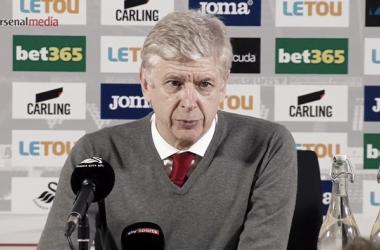 Wenger en sala de prensa | Fotografía: Arsenal